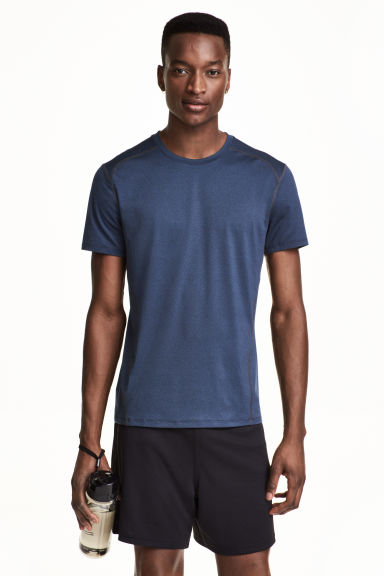 Sports top - Dark blue marl - Men | H&M 1