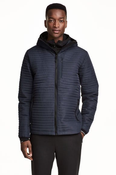 Quilted outdoor jacket - Dark blue - Men | H&M 1