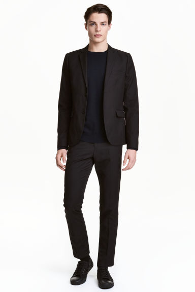 Suit trousers Slim fit - Black - Men | H&M 1