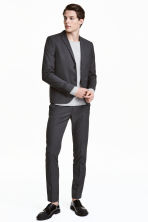 Pantaloni da completo Slim fit - Grigio scuro - UOMO | H&M IT 1