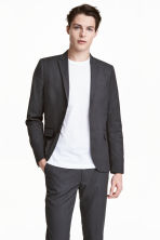Blazer - Slim fit - Donkergrijs -  | H&M BE 3