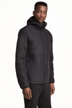 Quilted outdoor jacket - Black - Men | H&M CN 1