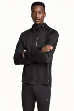 Hooded running jacket - Black - Men | H&M CN 1