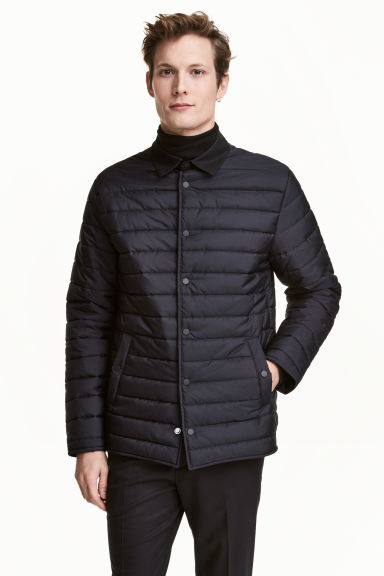 Quilted jacket - Dark blue - Men | H&M