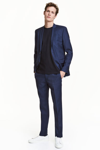 Pantaloni din lână Slim fit Model