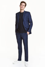 Wool suit trousers Slim fit - Navy blue - Men | H&M CN 1