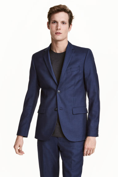 Blazer en laine Regular fit Modèle