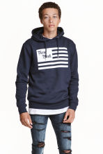 Hooded top - Dark Blue/New York -  | H&M CN 1