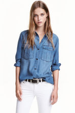 Lyocell utility shirt - Denim blue - Ladies | H&M 2