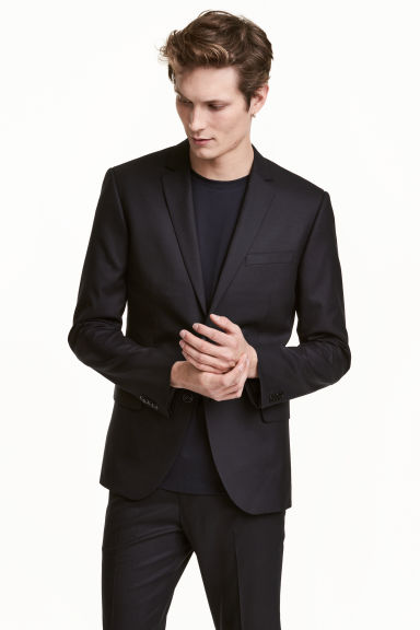 Wool jacket Skinny fit - Black - Men | H&M 1
