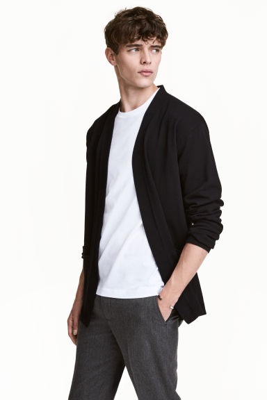 Cotton cardigan - Black - Men | H&M CN 1
