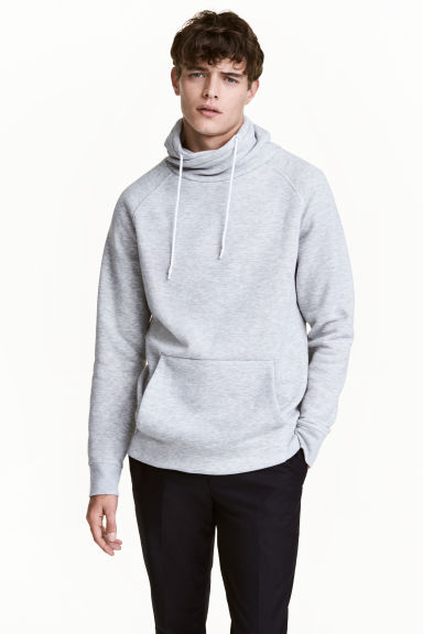 Funnel-collar sweatshirt - Grey marl - Men | H&M CN 1