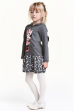 Jersey dress with a hood - Dark grey/Minnie Mouse - Kids | H&M CN 1