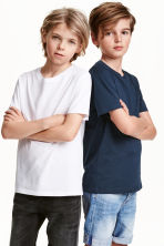 Set van 2 T-shirts - Donkerblauw -  | H&M BE 3