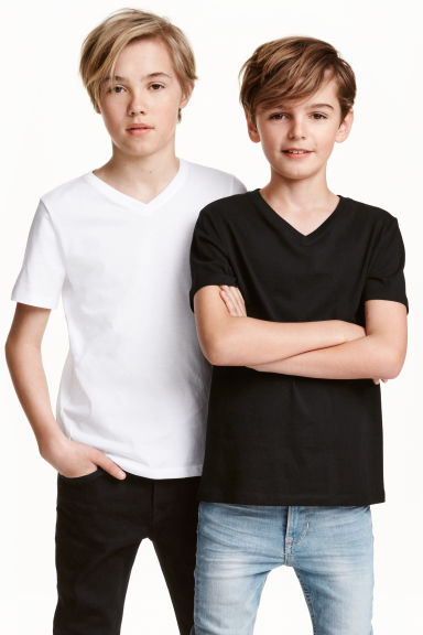 2-pack T-shirts - Black - Kids | H&M 1