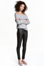 Leggings with zips - Black - Ladies | H&M 1