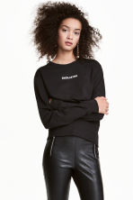 Printed sweatshirt - Black - Ladies | H&M CN 1