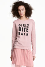 Printed sweatshirt - Pink - Ladies | H&M 1