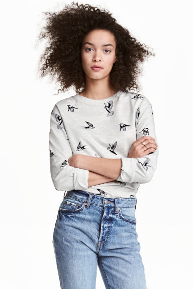 Baskılı Sweatshirt Model