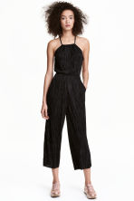 Pleated jumpsuit - Black - Ladies | H&M CN 1