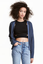 Rib-knit cardigan - Pigeon blue - Ladies | H&M CN 1