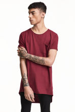 Long T-shirt - Burgundy - Men | H&M 1