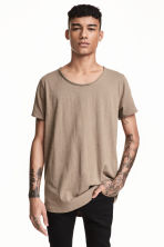 Raw-edge T-shirt - Mole - Men | H&M CN 1
