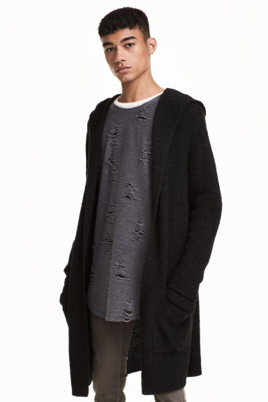 Long cardigan - Black - Men | H&M CN 1