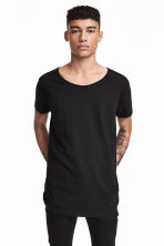 Raw-edge T-shirt - Black - Men | H&M 2