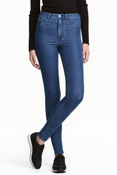 Super Skinny High Jeggings - Denim blue - Ladies | H&M