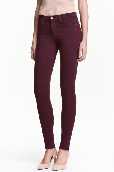Shaping Skinny Regular Jeans - Plum - Ladies | H&M 1