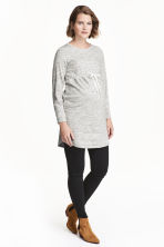 MAMA Sweatshirt tunic - Light grey marl - Ladies | H&M CN 1