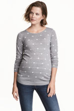MAMA Fine-knit jumper - Grey/White Spotted - Ladies | H&M 1