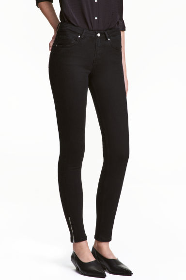 Skinny Low Jeans - Black denim - Ladies | H&M 1