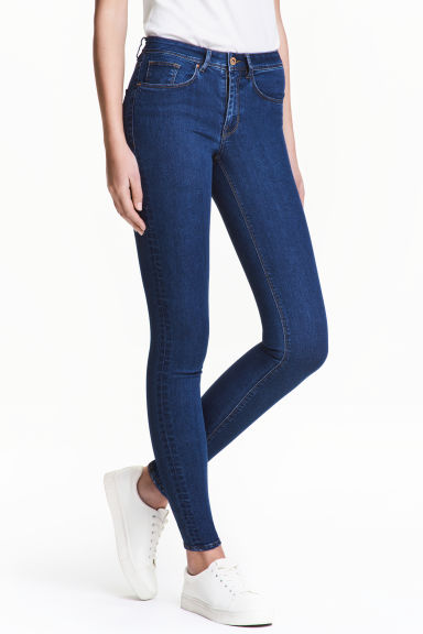 Super Skinny Regular Jeans - Dark denim blue - Ladies | H&M CA 1