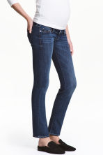 MAMA Straight Jeans - Dark denim blue - Ladies | H&M CN 1