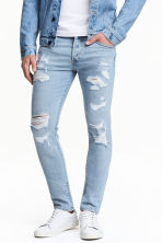 Skinny Low Trashed Jeans - Light denim blue - Men | H&M CN 2