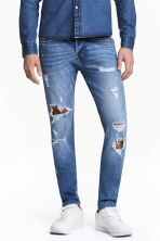 Skinny Low Trashed Jeans - Denim blue - Men | H&M 1