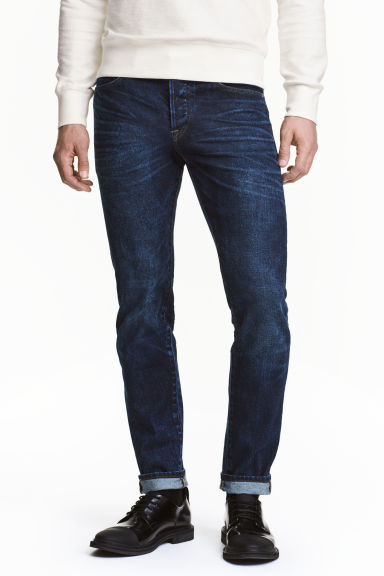 Slim Low Jeans - Dark denim blue - Men | H&M CN 1