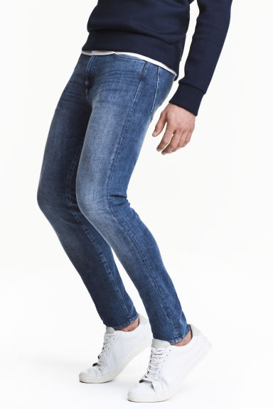 360 Tech Stretch Skinny Jeans - 牛仔蓝 - Men | H&M CN
