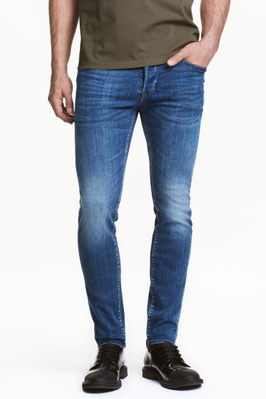 Skinny Low Jeans - Denim blue - Men | H&M CN 1