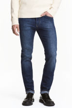 Skinny Regular Jeans - Dark denim blue -  | H&M 1