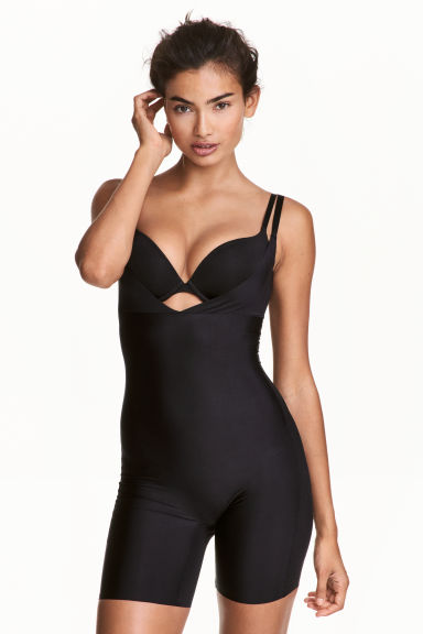Lightly shaping body with legs - Black - Ladies | H&M 1