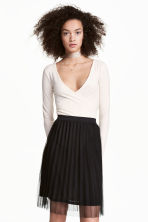 Gonna plissettata in tulle - Nero - DONNA | H&M IT 2