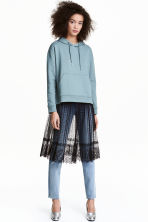 Knee-length lace skirt - 黑色 - Ladies | H&M CN 1