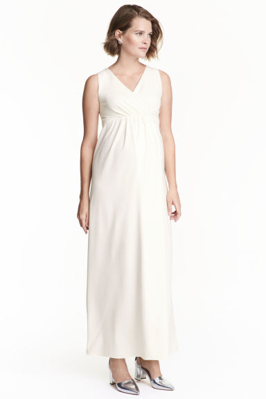 MAMA Maxi dress - Natural white -  | H&M CN 1