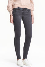 Super Skinny Low Jeans - Dark grey denim - Ladies | H&M 1