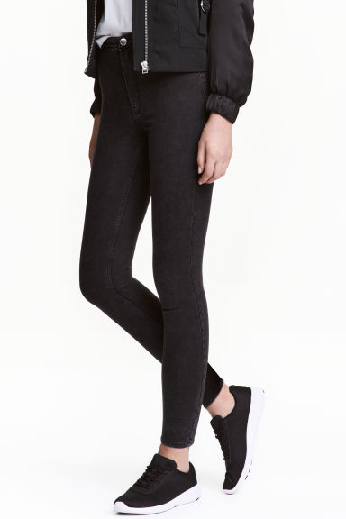 Trousers High waist - Black - Ladies | H&M CN
