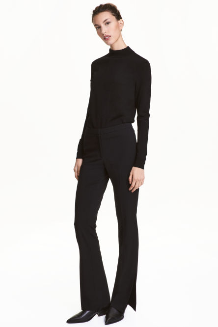 Suit trousers with slits