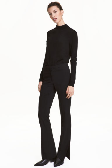 Suit trousers with slits - Black - Ladies | H&M